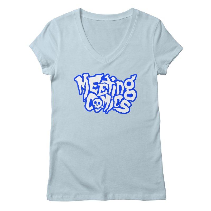 Meeting Comics Logo - sports Women's Regular V-Neck by Wander Lane Threadless Shop