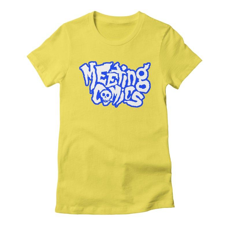 Meeting Comics Logo - sports Women's Fitted T-Shirt by Wander Lane Threadless Shop