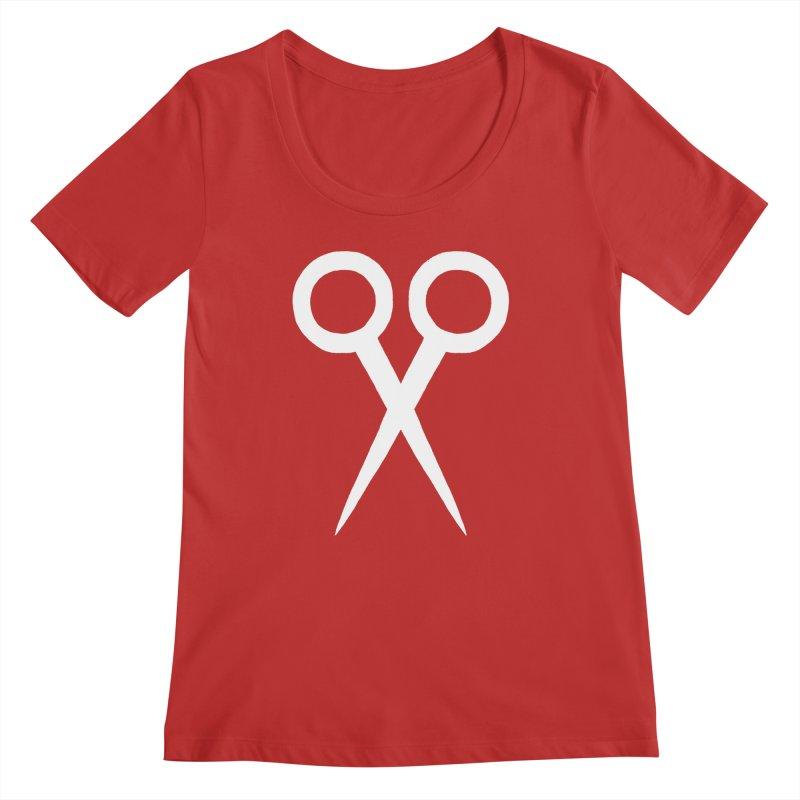 Meeting Comics: Ribbon Cutter Logo Women's Regular Scoop Neck by Wander Lane Threadless Shop