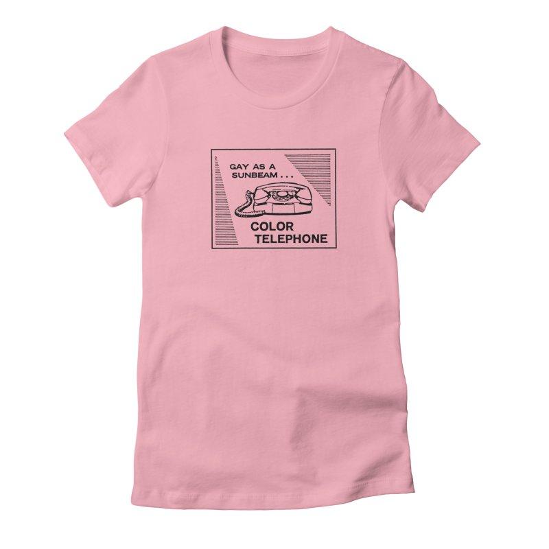 GAY AS A SUNBEAM... Women's Fitted T-Shirt by Wander Lane Threadless Shop