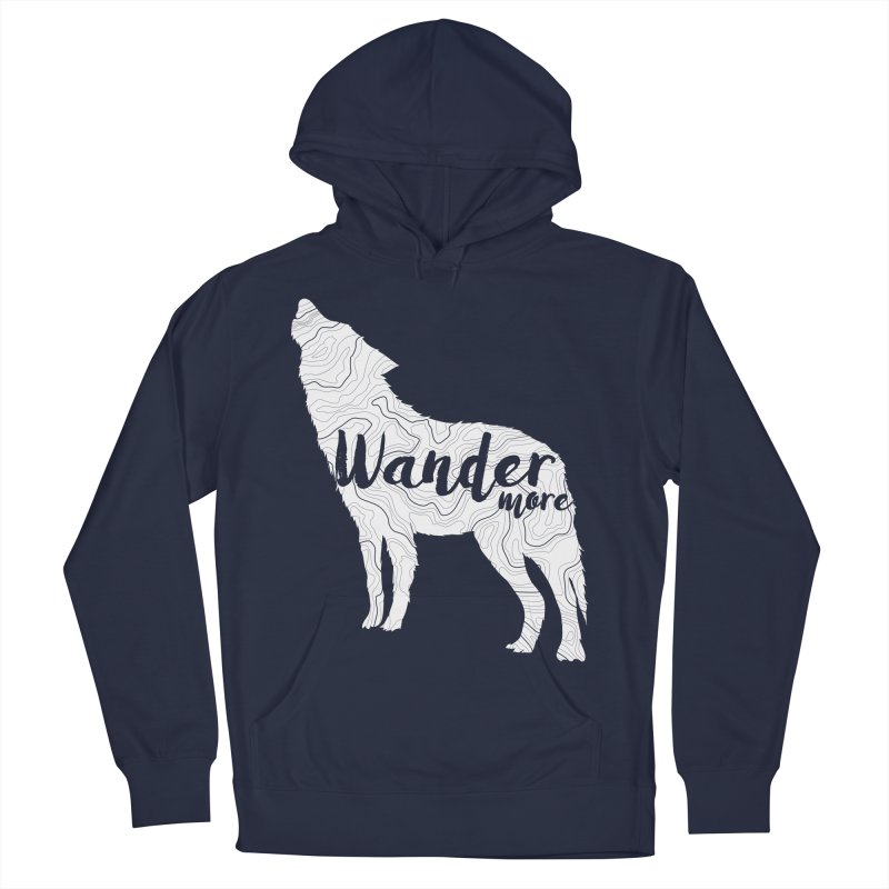 The Lone Wolf - Ladies Women's French Terry Pullover Hoody by Wanderluster