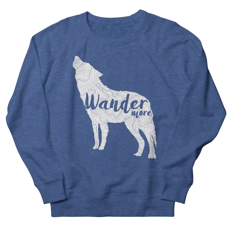 The Lone Wolf - Ladies Women's French Terry Sweatshirt by Wanderluster