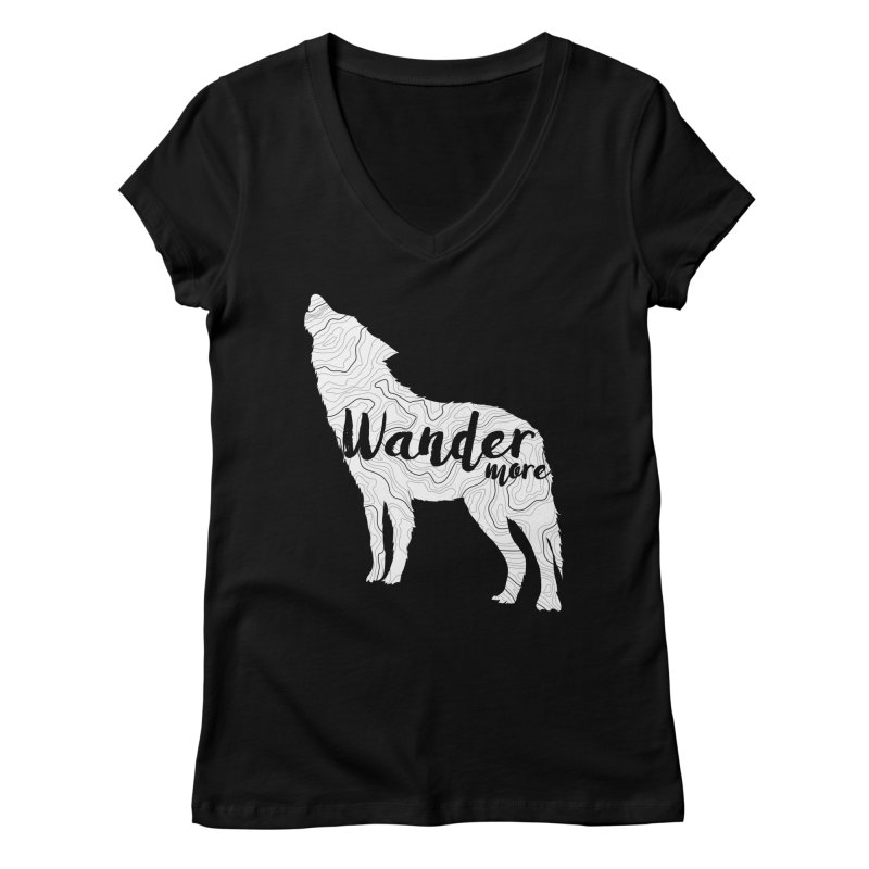 The Lone Wolf - Ladies Women's V-Neck by Wanderluster
