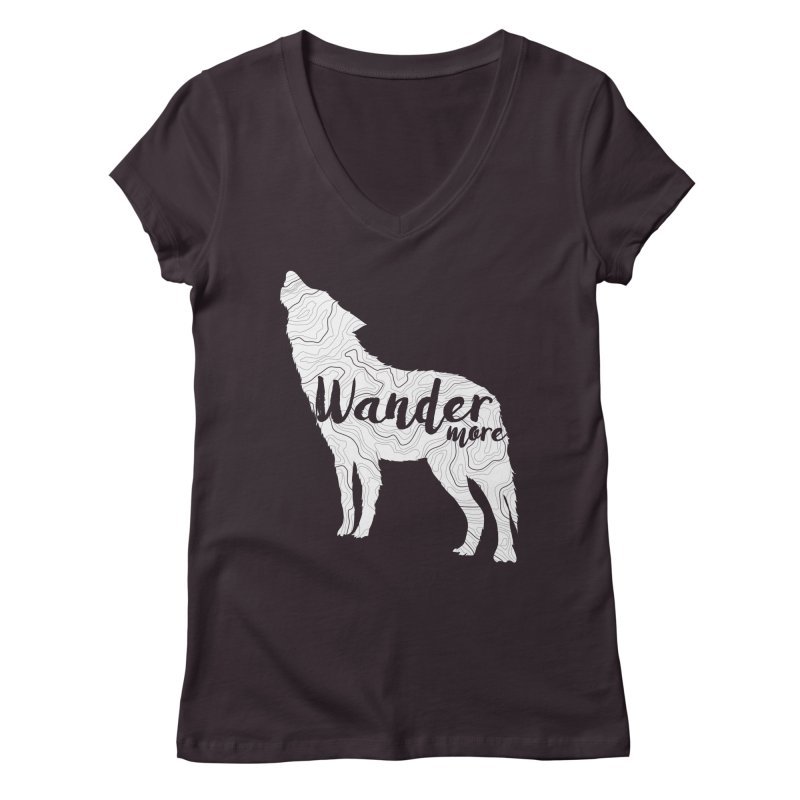 The Lone Wolf - Ladies Women's Regular V-Neck by Wanderluster