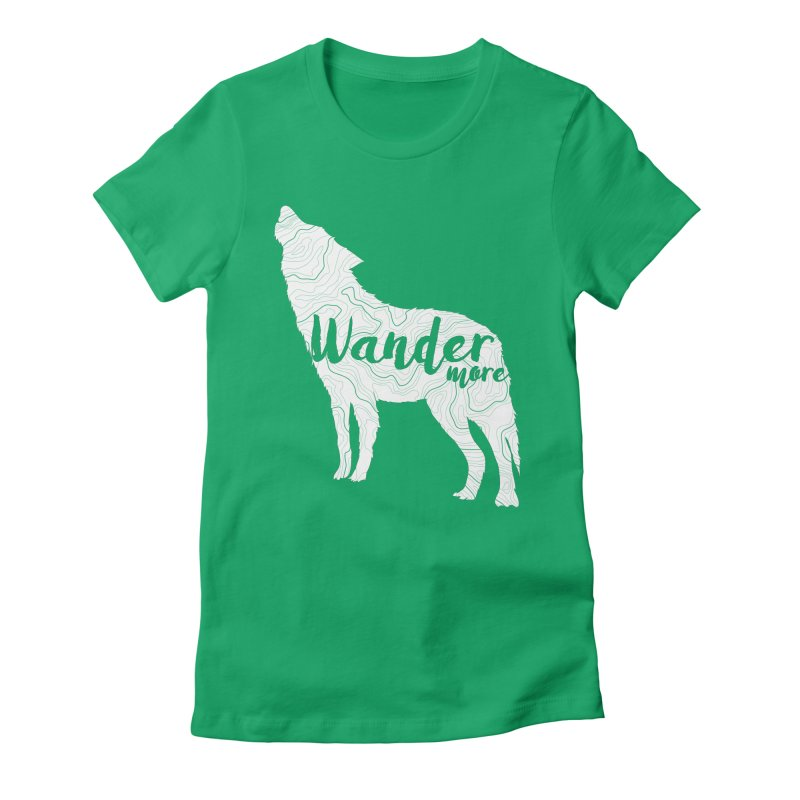The Lone Wolf - Ladies Women's Fitted T-Shirt by Wanderluster