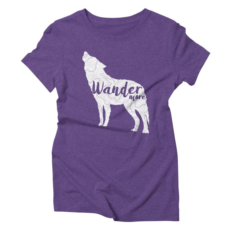 The Lone Wolf - Ladies Women's Triblend T-Shirt by Wanderluster