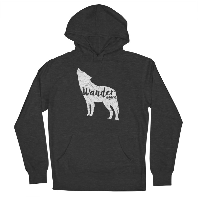 The Lone Wolf - Guys Men's French Terry Pullover Hoody by Wanderluster