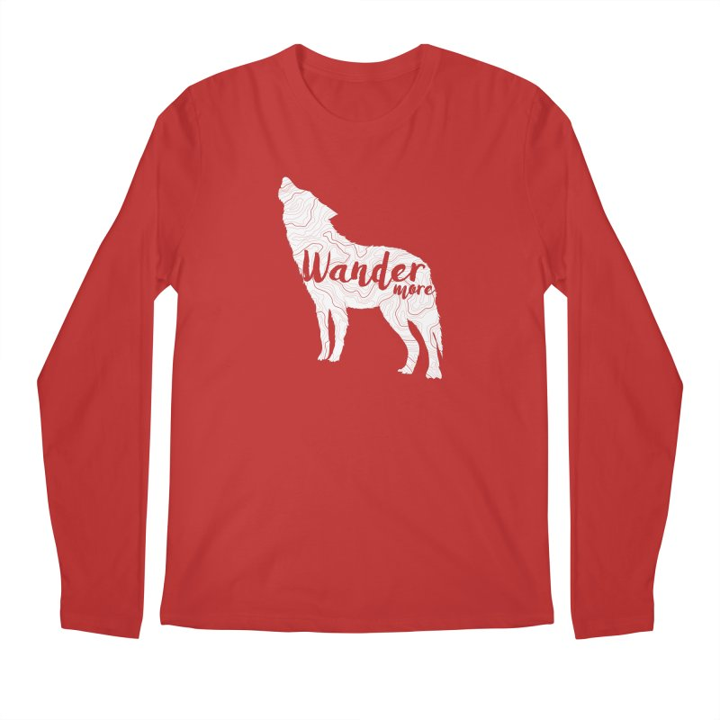 The Lone Wolf - Guys Men's Regular Longsleeve T-Shirt by Wanderluster
