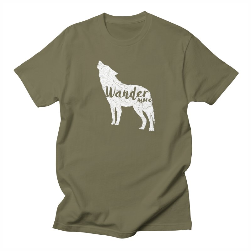 The Lone Wolf - Guys Men's Regular T-Shirt by Wanderluster