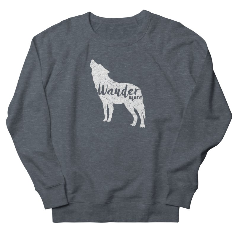 The Lone Wolf - Guys Men's French Terry Sweatshirt by Wanderluster
