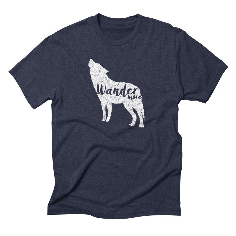 The Lone Wolf - Guys Men's Triblend T-Shirt by Wanderluster