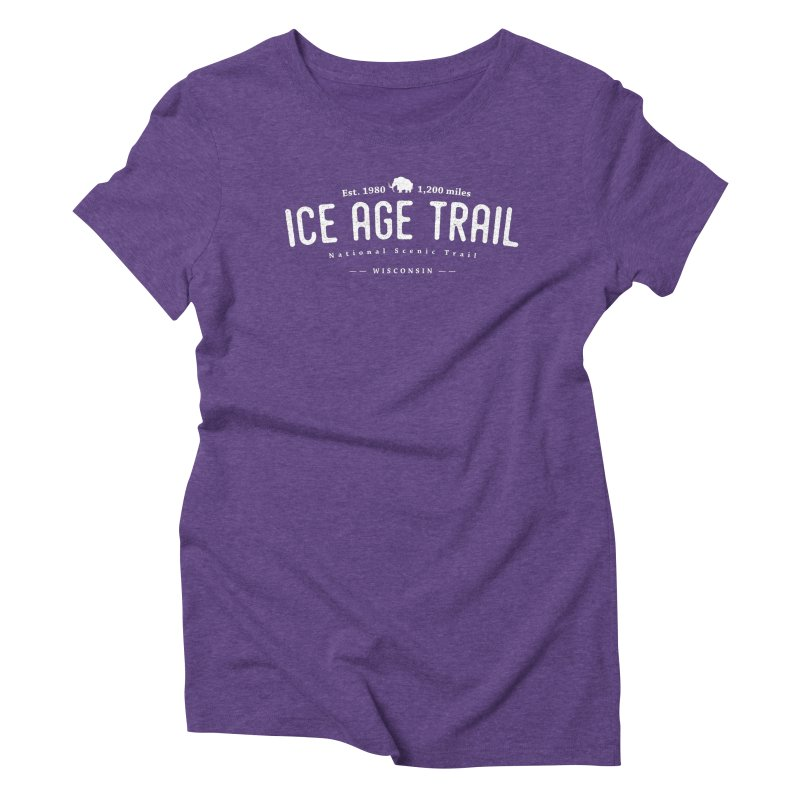 Ice Age National Scenic Trail Women's Triblend T-Shirt by Wanderluster