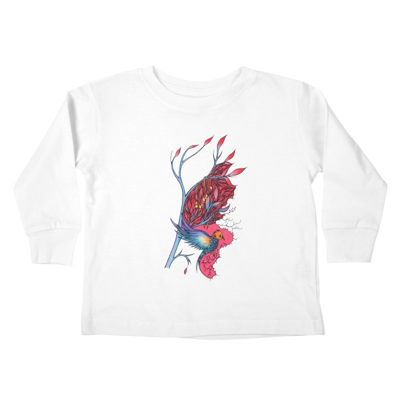 Clouds Play Shelter Against the Future  Kids Toddler Longsleeve T-Shirt by WarduckDesign's Artist Shop