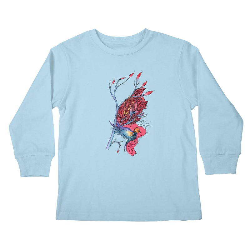 Clouds Play Shelter Against the Future  Kids Longsleeve T-Shirt by WarduckDesign's Artist Shop