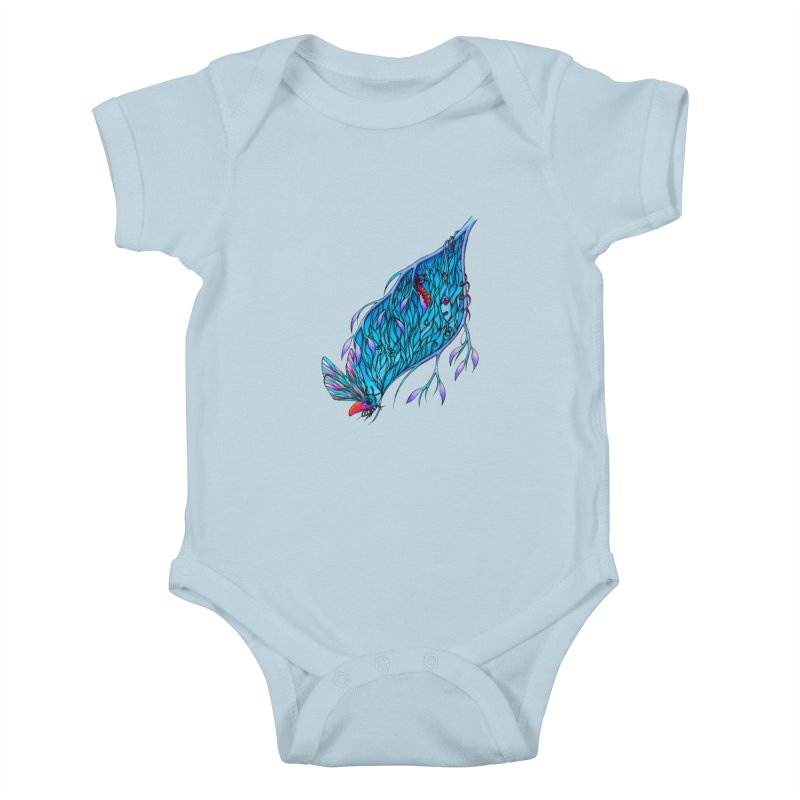 Blue Kids Baby Bodysuit by WarduckDesign's Artist Shop