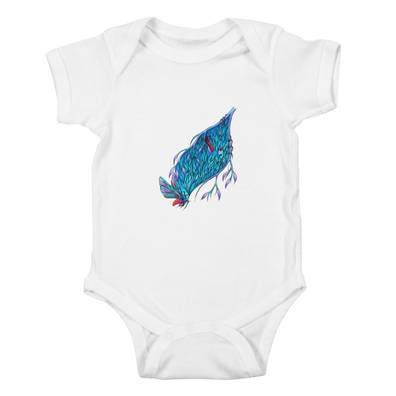 Blue Kids Baby Bodysuit by WarduckDesign's Artist Shop