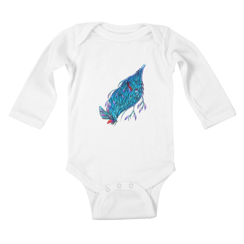 Blue Kids Baby Longsleeve Bodysuit by WarduckDesign's Artist Shop