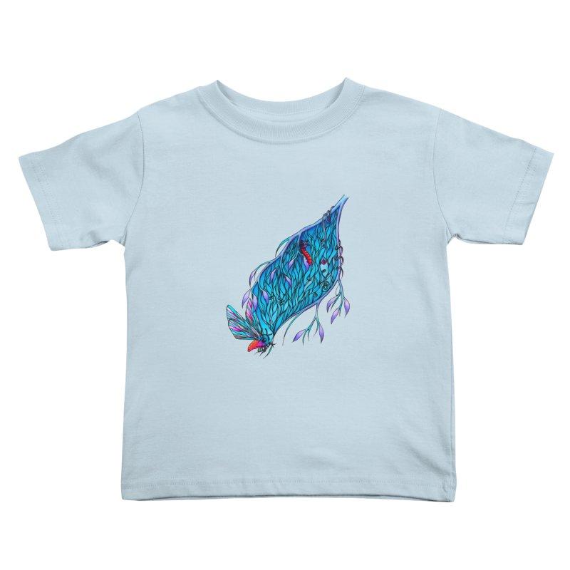 Blue Kids Toddler T-Shirt by WarduckDesign's Artist Shop