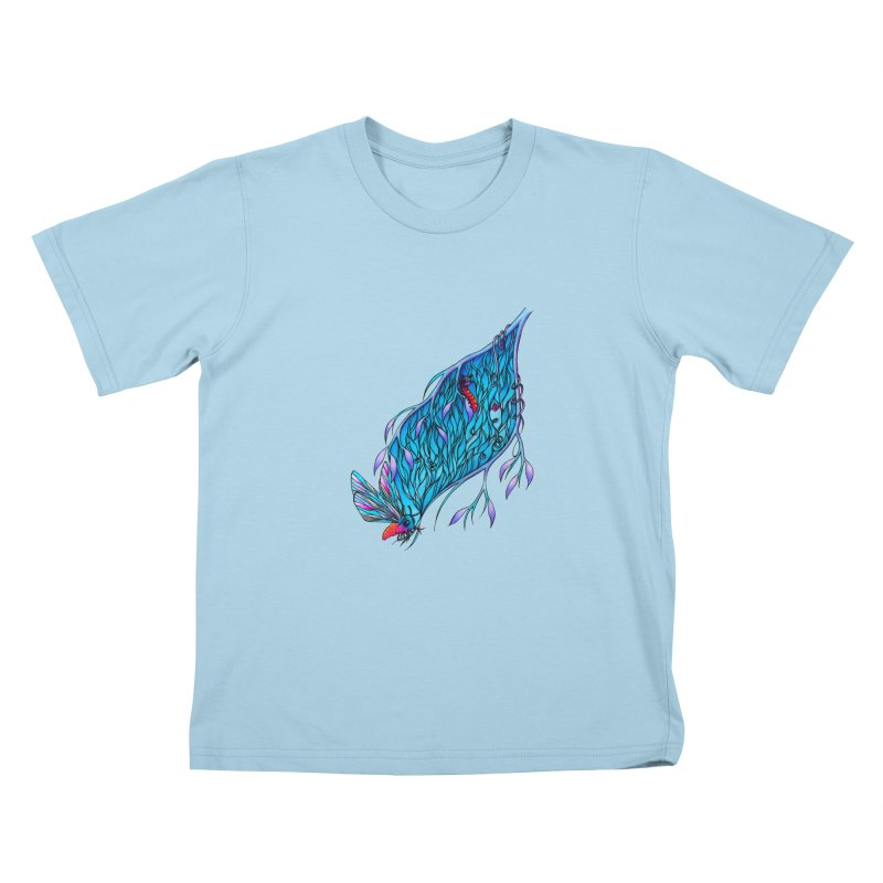 Blue Kids T-Shirt by WarduckDesign's Artist Shop