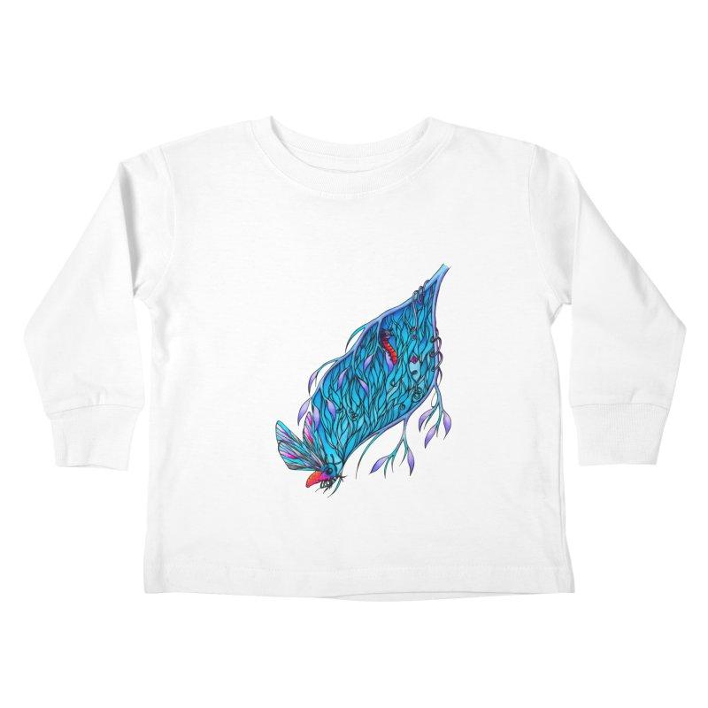 Blue Kids Toddler Longsleeve T-Shirt by WarduckDesign's Artist Shop
