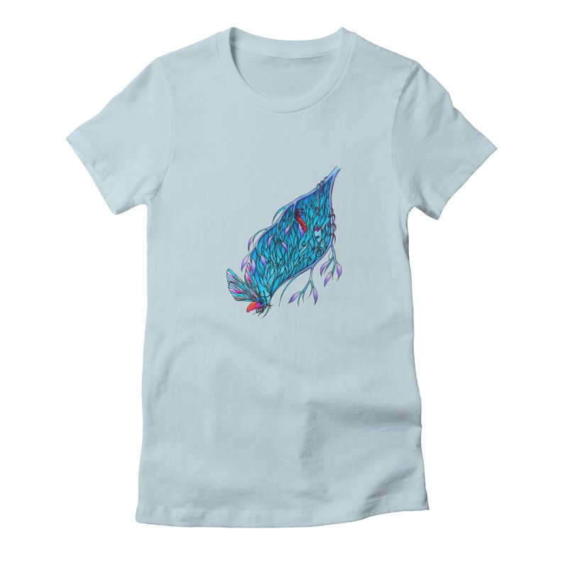 Blue Women's Fitted T-Shirt by WarduckDesign's Artist Shop