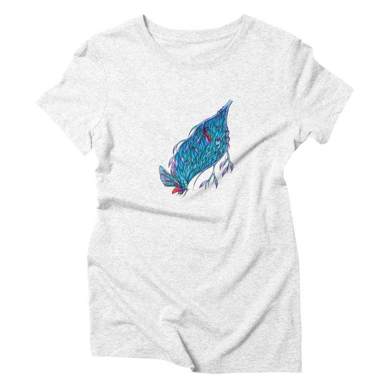 Blue Women's Triblend T-shirt by WarduckDesign's Artist Shop