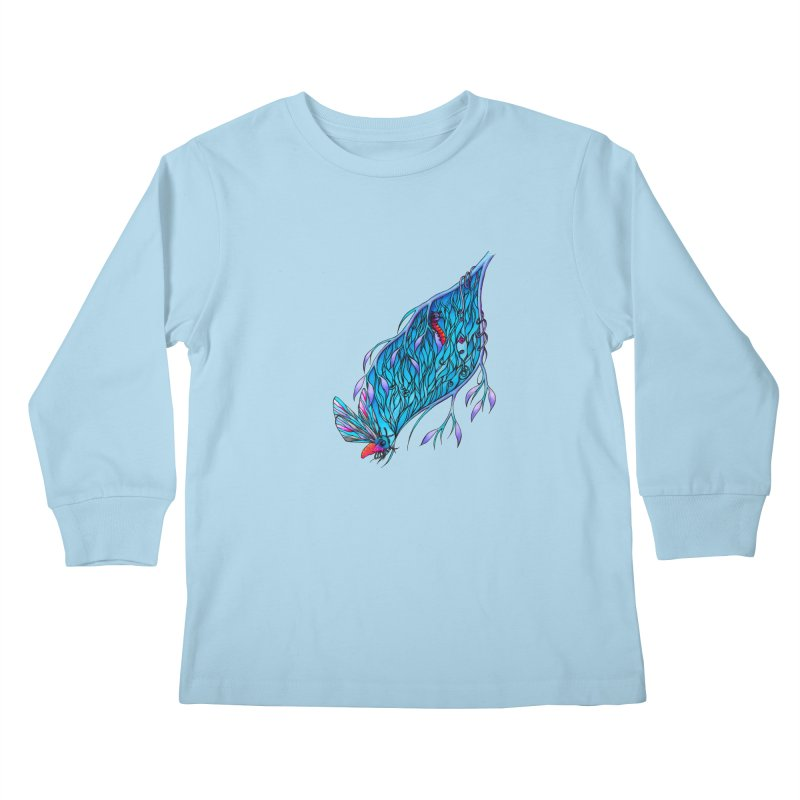 Blue Kids Longsleeve T-Shirt by WarduckDesign's Artist Shop