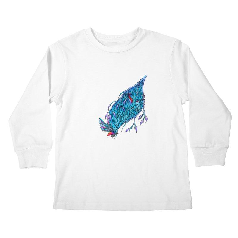 Blue Kids Longsleeve T-Shirt by WarduckDesign's Artist Shop