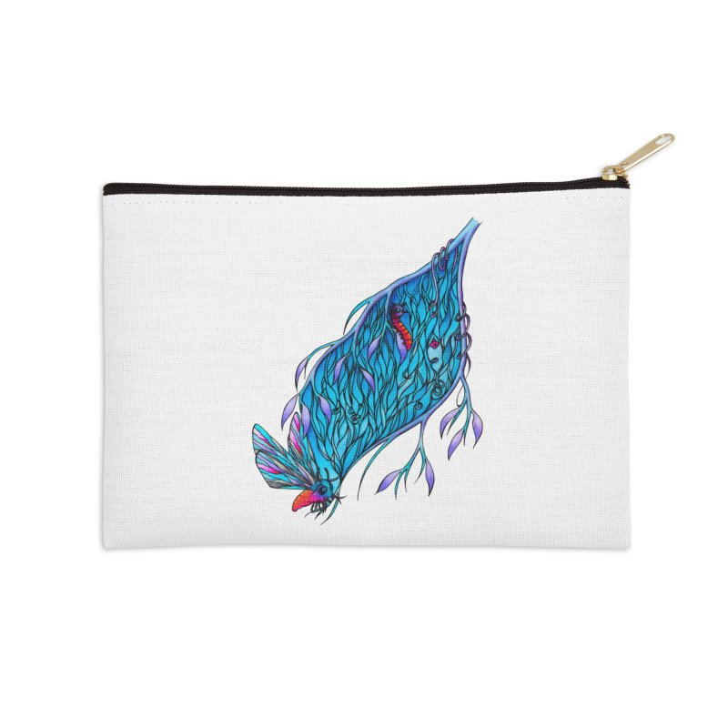 Blue Accessories Zip Pouch by WarduckDesign's Artist Shop