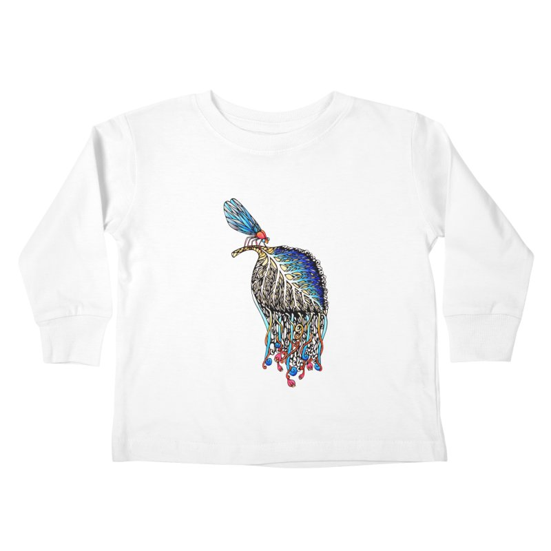 We Eat Beauty to Become Beauty  Kids Toddler Longsleeve T-Shirt by WarduckDesign's Artist Shop