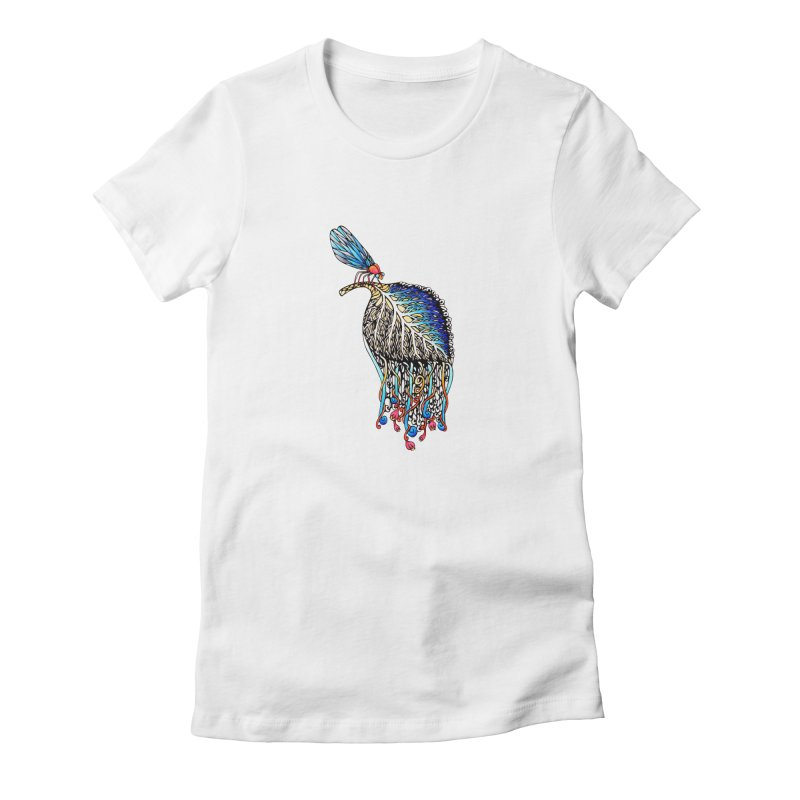 We Eat Beauty to Become Beauty  Women's Fitted T-Shirt by WarduckDesign's Artist Shop
