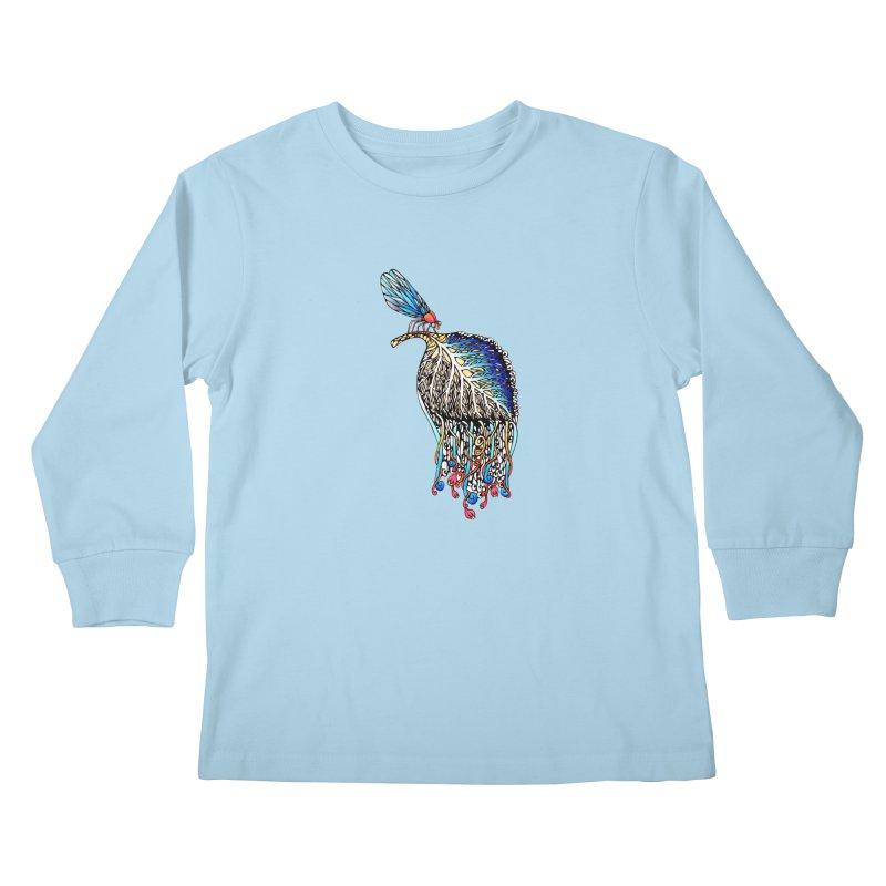 We Eat Beauty to Become Beauty  Kids Longsleeve T-Shirt by WarduckDesign's Artist Shop