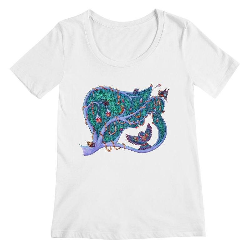 The Spirit of the Times Women's Scoopneck by WarduckDesign's Artist Shop