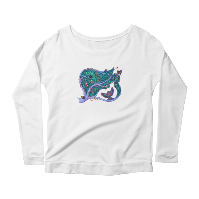The Spirit of the Times Women's Longsleeve Scoopneck  by WarduckDesign's Artist Shop