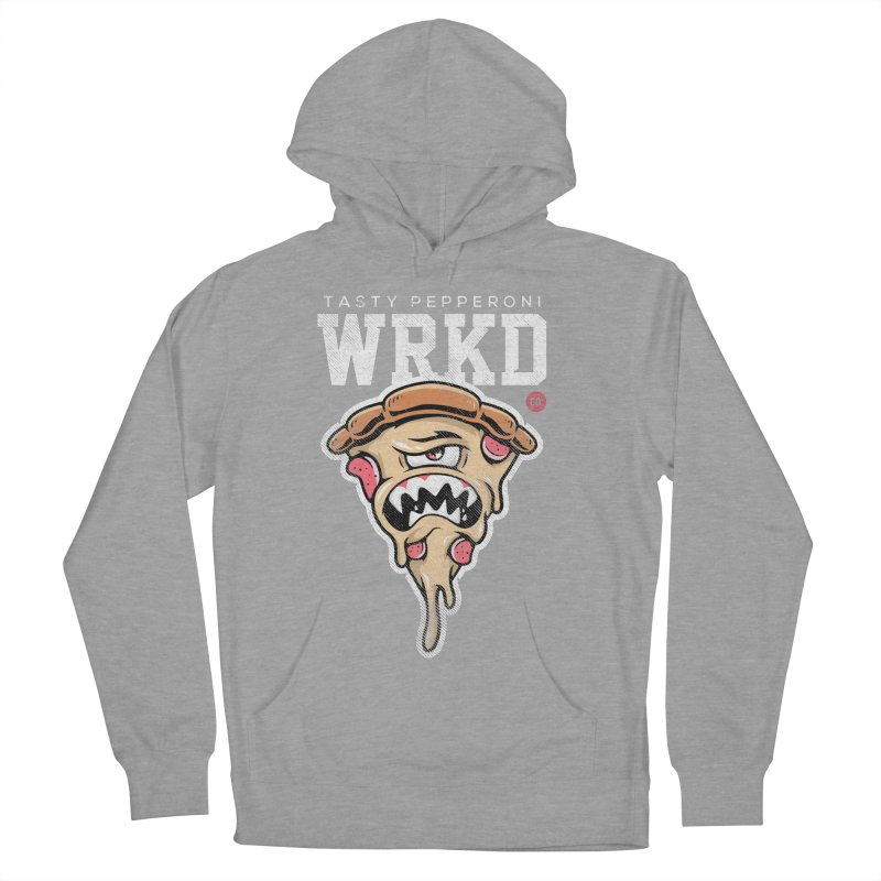 Tasty Pizza Women's French Terry Pullover Hoody by Johnny Terror's Art Shop