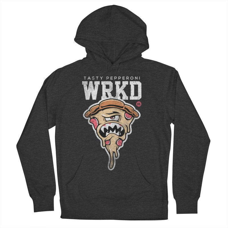 Tasty Pizza Men's French Terry Pullover Hoody by Johnny Terror's Art Shop