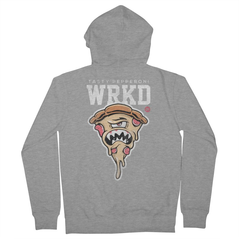 Tasty Pizza Women's French Terry Zip-Up Hoody by Johnny Terror's Art Shop