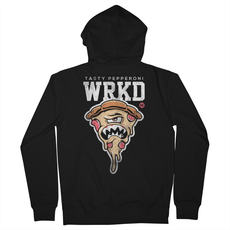 Tasty Pizza Men's French Terry Zip-Up Hoody by Johnny Terror's Art Shop