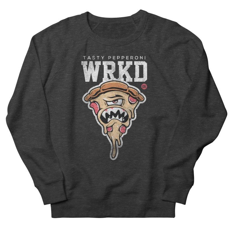 Tasty Pizza Women's French Terry Sweatshirt by Johnny Terror's Art Shop