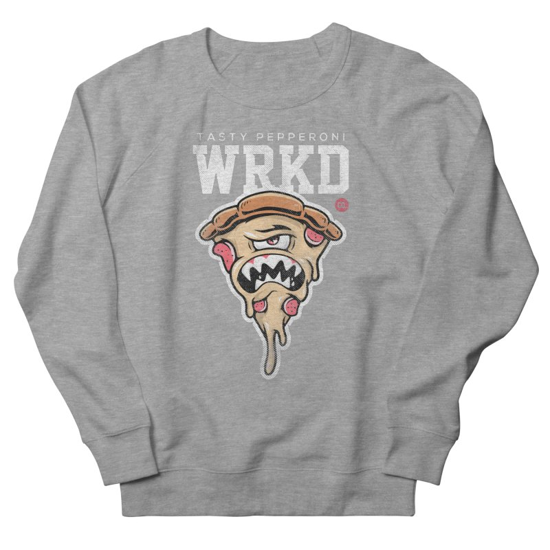 Tasty Pizza Men's French Terry Sweatshirt by Johnny Terror's Art Shop