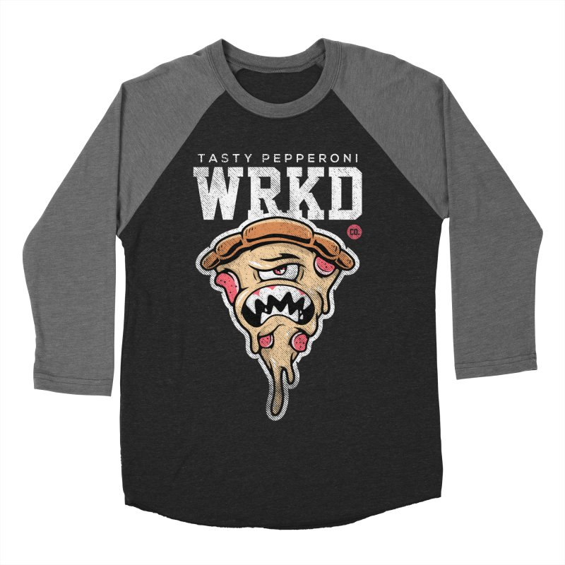 Tasty Pizza Women's Baseball Triblend Longsleeve T-Shirt by Johnny Terror's Art Shop