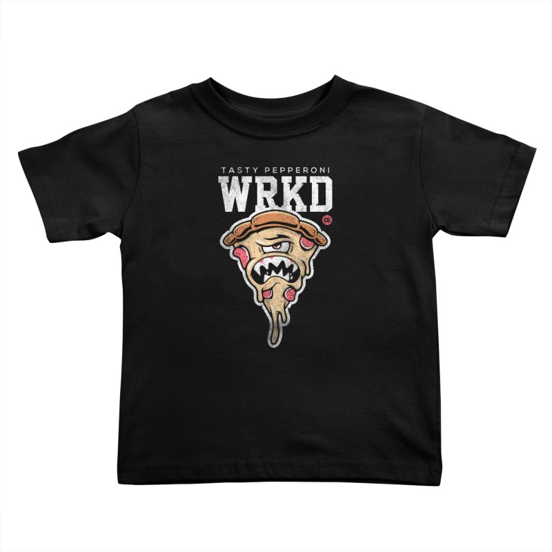 Tasty Pizza Kids Toddler T-Shirt by Johnny Terror's Art Shop