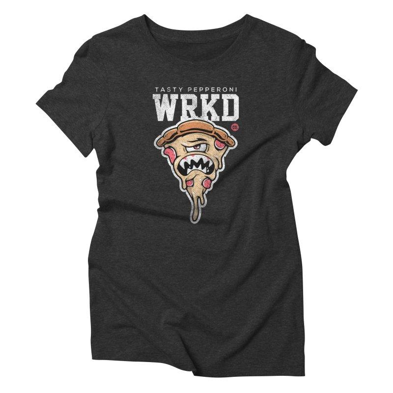 Tasty Pizza Women's T-Shirt by Johnny Terror's Art Shop