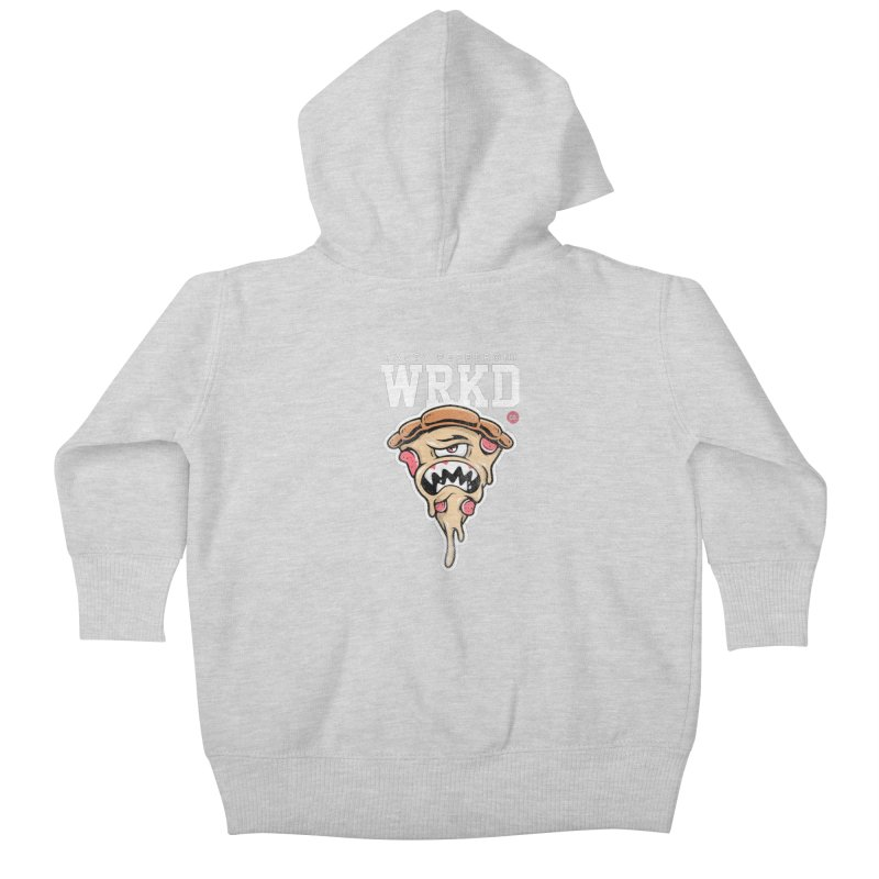 Tasty Pizza Kids Baby Zip-Up Hoody by Johnny Terror's Art Shop