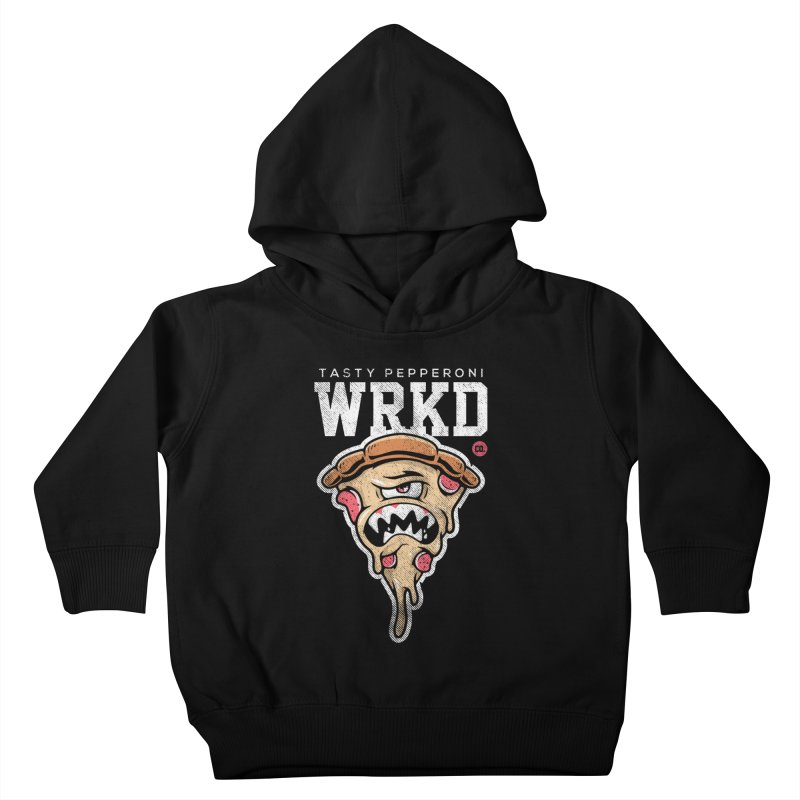 Tasty Pizza Kids Toddler Pullover Hoody by Johnny Terror's Art Shop