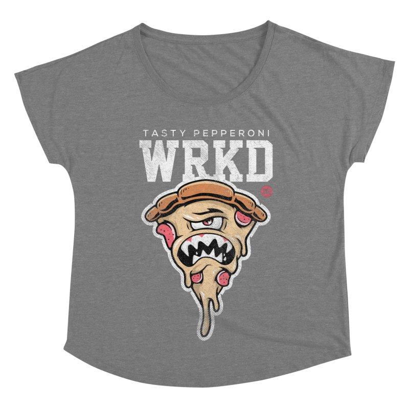 Tasty Pizza Women's Dolman Scoop Neck by Johnny Terror's Art Shop