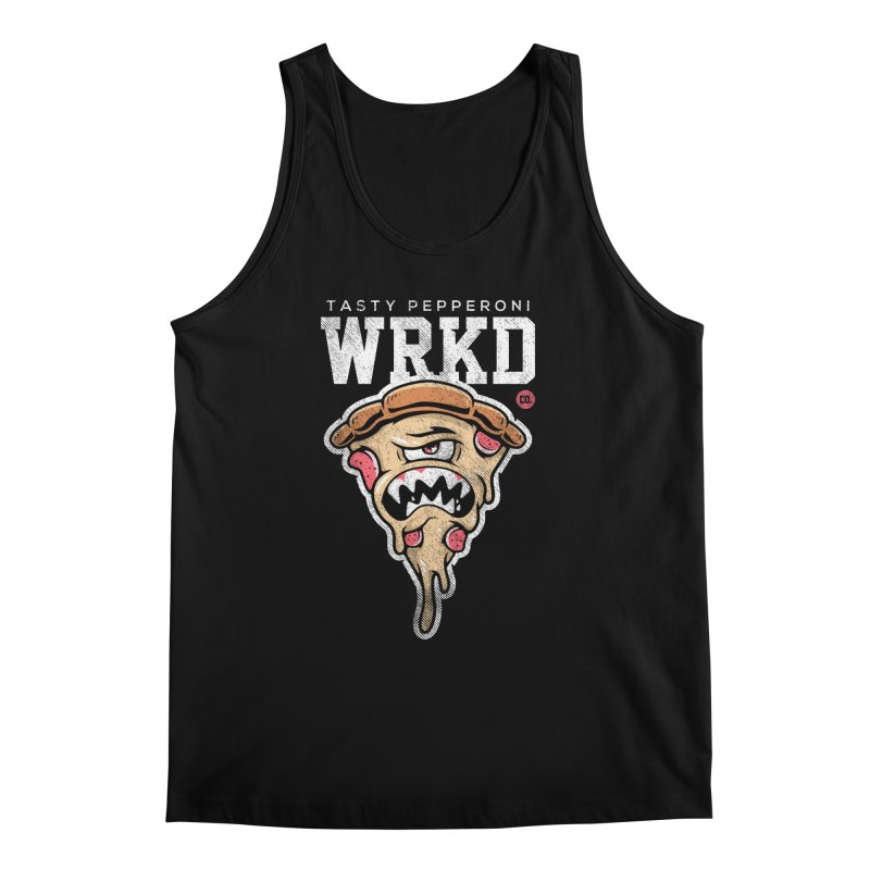 Tasty Pizza Men's Regular Tank by Johnny Terror's Art Shop