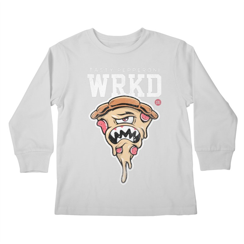 Tasty Pizza Kids Longsleeve T-Shirt by Johnny Terror's Art Shop