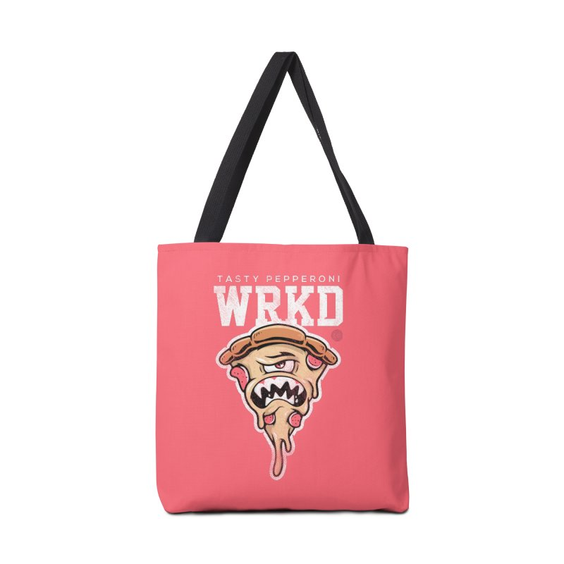 Tasty Pizza Accessories Tote Bag Bag by Johnny Terror's Art Shop