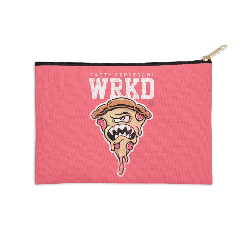 Tasty Pizza Accessories Zip Pouch by Johnny Terror's Art Shop